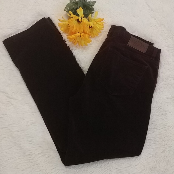RALPH LAUREN Burgundy Cords Corduroy Pants 10P